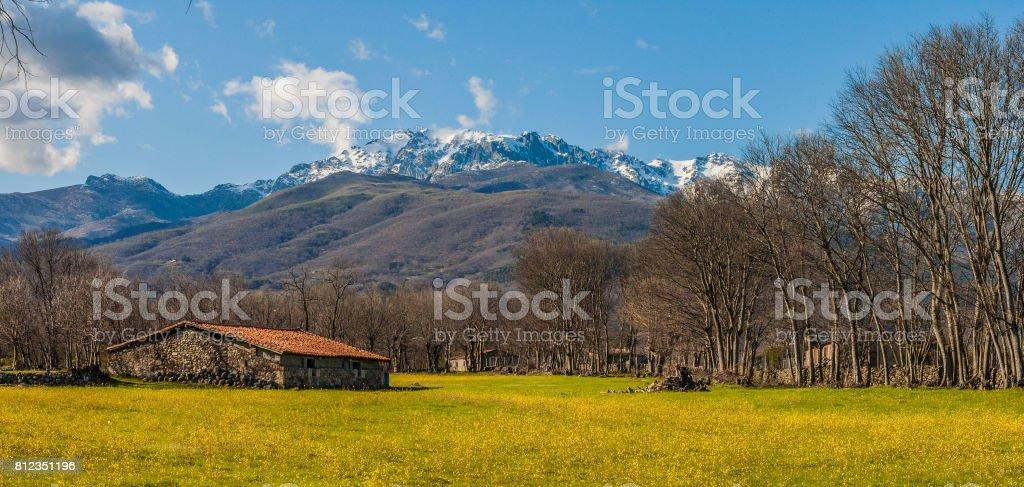 Sunny spring day in Sierra de Gredos stock photo