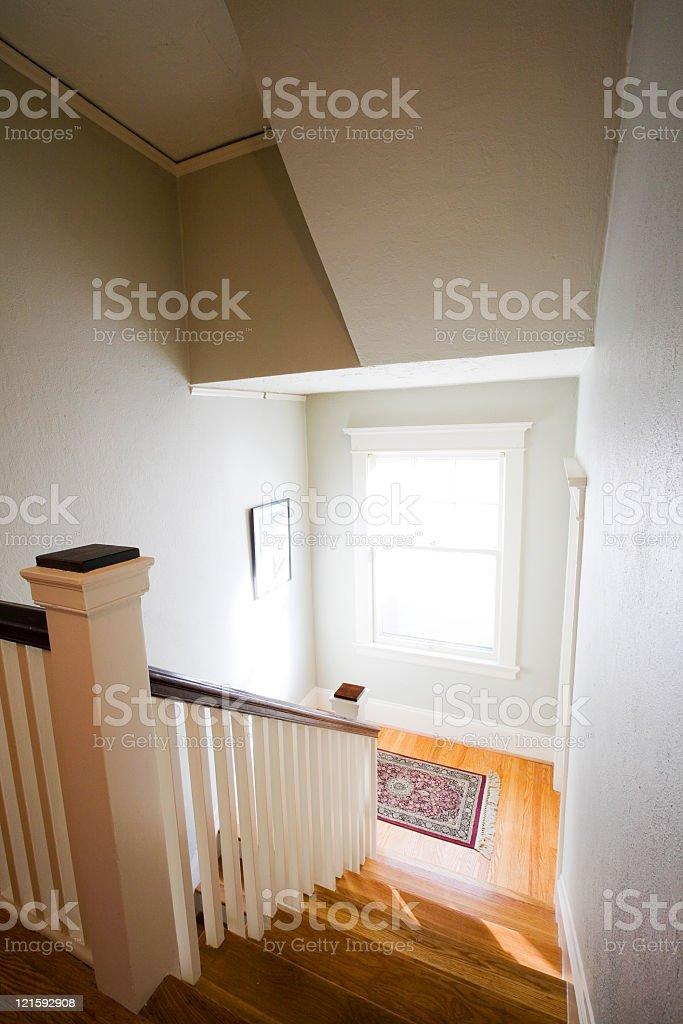 Sunny Stairwell stock photo