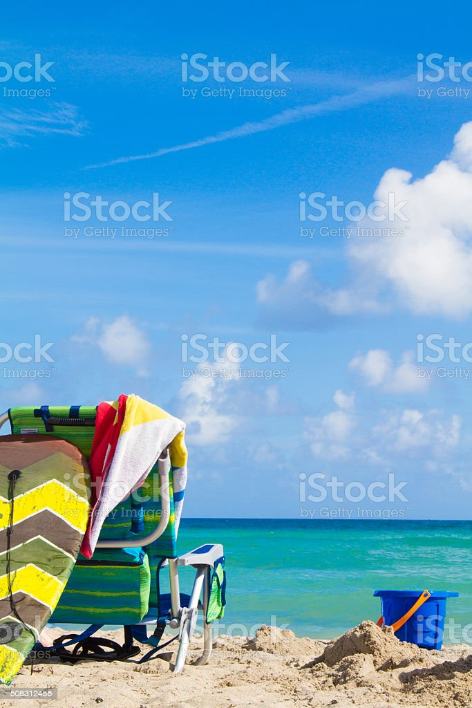 Beach landscape stock photo