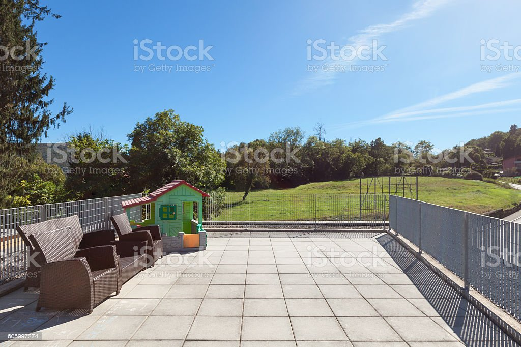 Fabulous Sunny Terrace Of House Stock Photo 605997274 Istock Largest Home Design Picture Inspirations Pitcheantrous