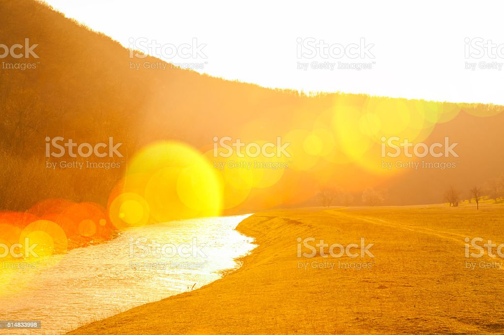 sunny valley stock photo
