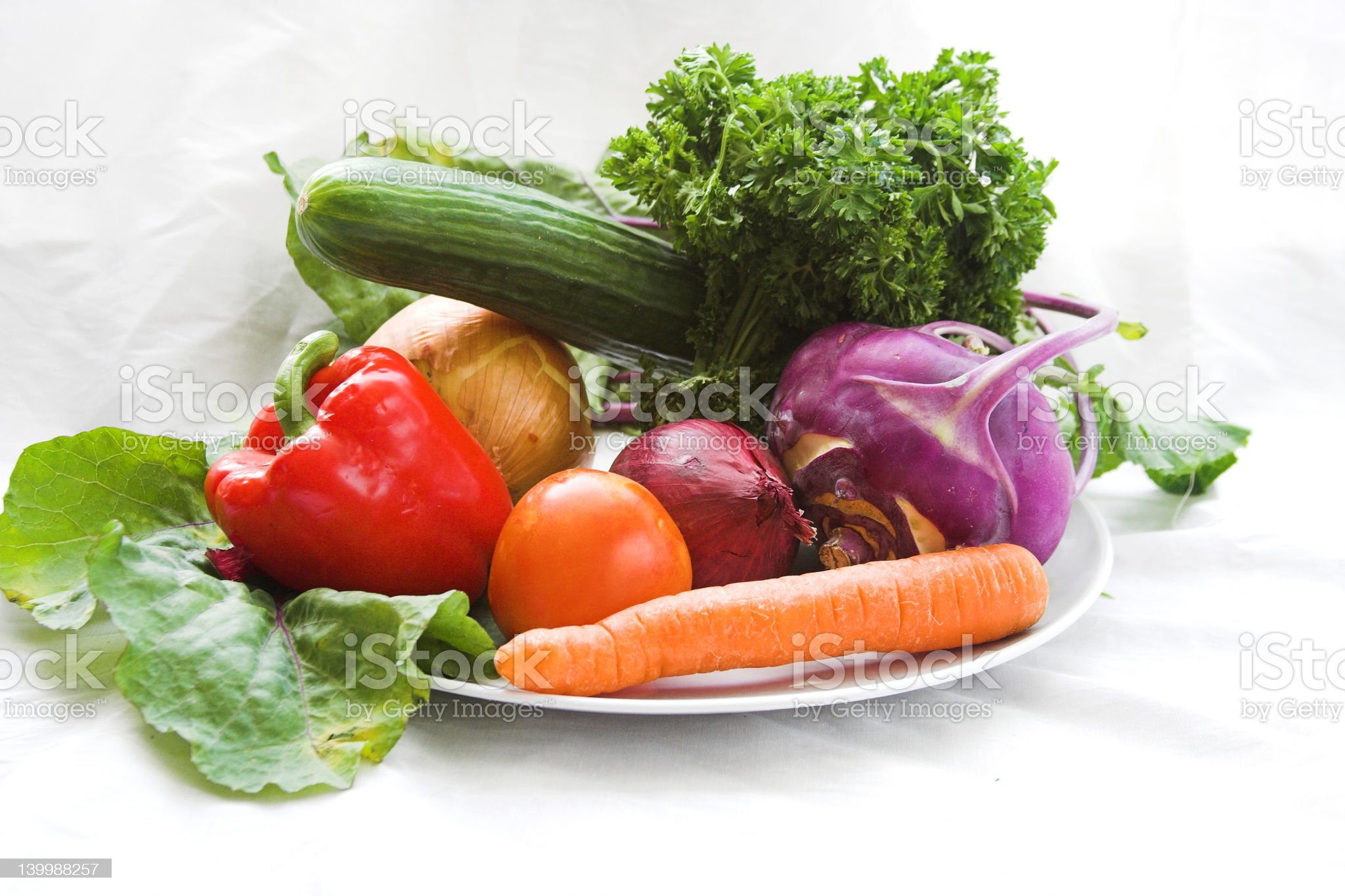 sunny vegetables royalty-free stock photo