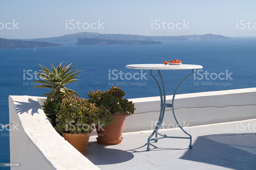 Sunny view at the sea royalty-free stock photo