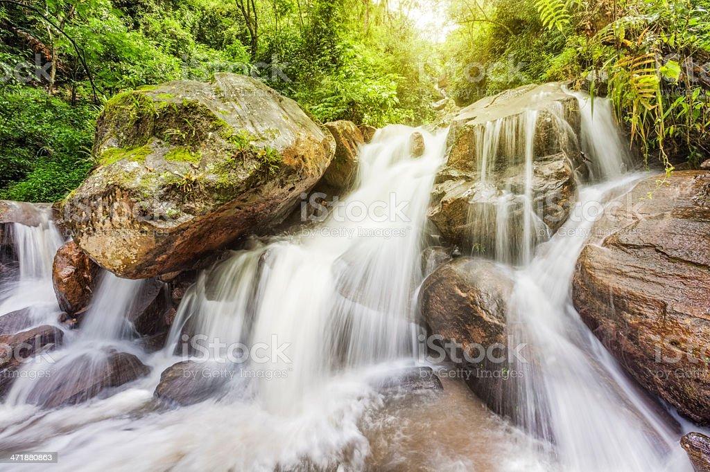Sunny Waterfall royalty-free stock photo