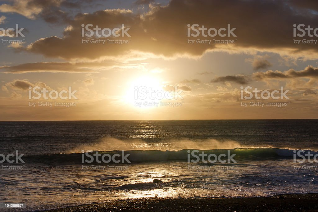 Sunny wave stock photo