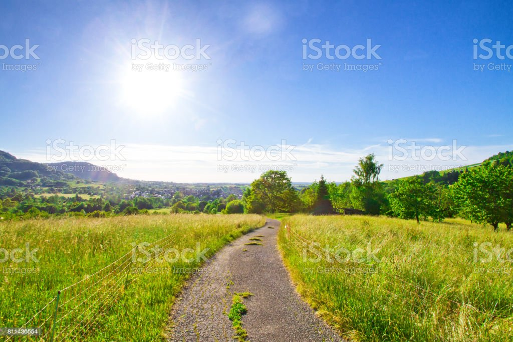 Sunny way stock photo