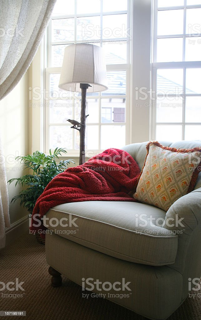Sunny Window, Comfortable Chair royalty-free stock photo