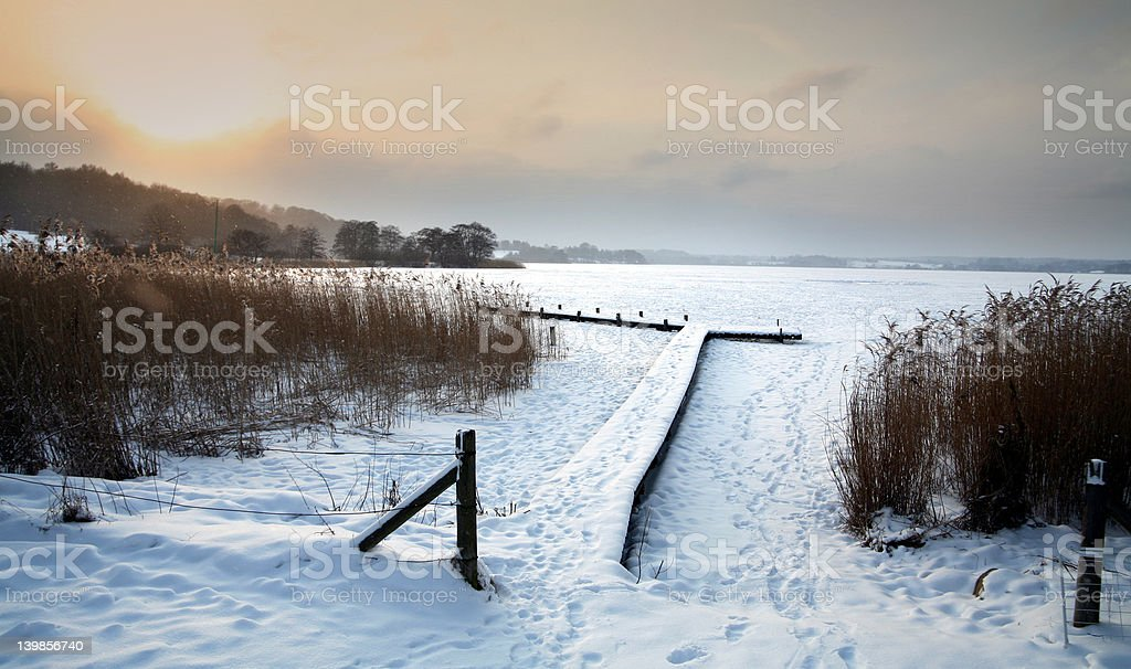 sunny winter royalty-free stock photo