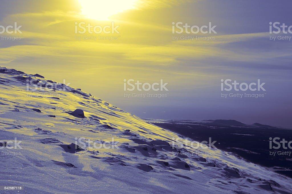 Sunny winter stock photo