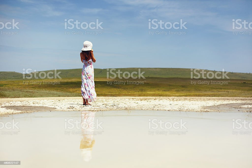 Sunny woman royalty-free stock photo