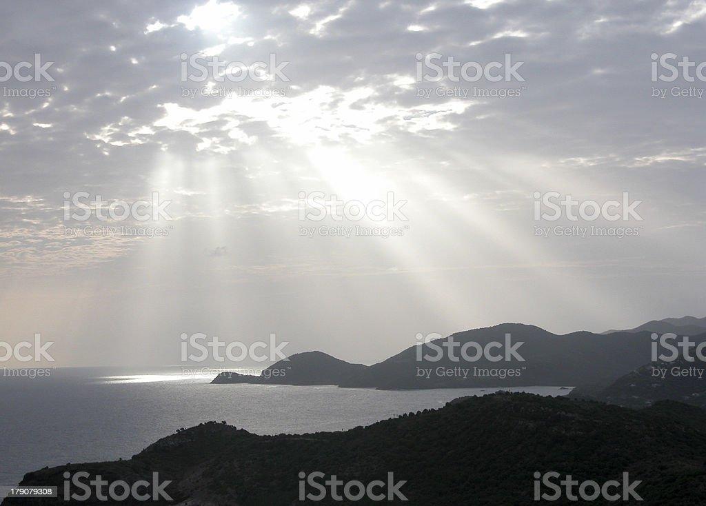 Sunrays - Antigua royalty-free stock photo