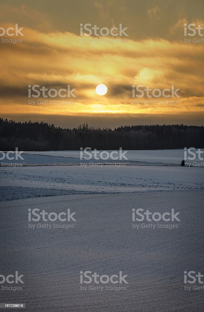 Sunrise a Cold Morning stock photo