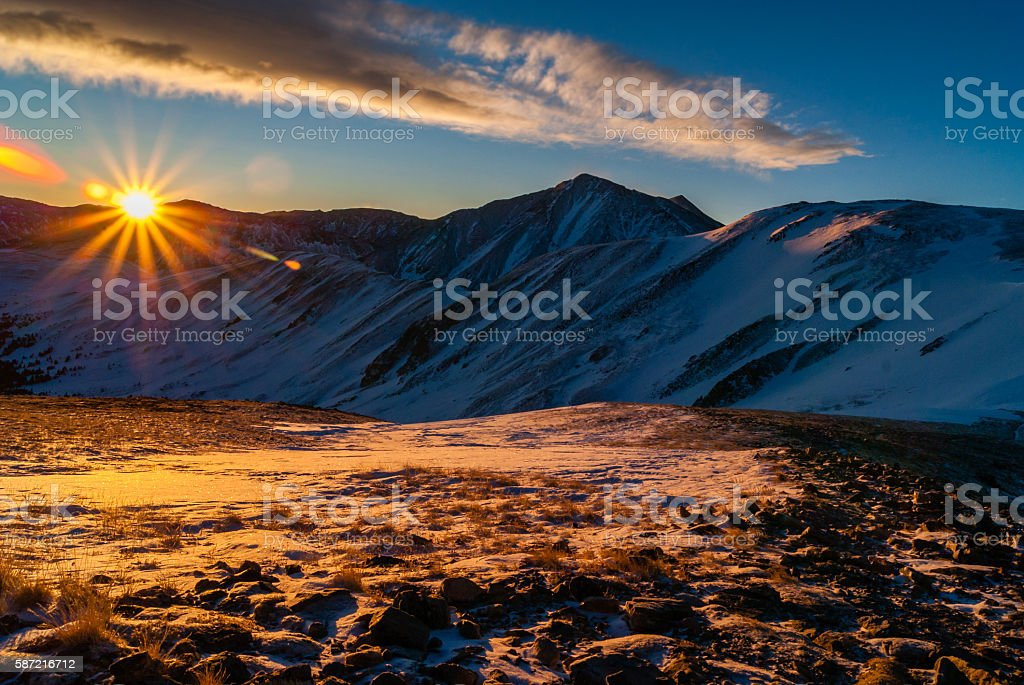 Sunrise Above Loveland Pass stock photo