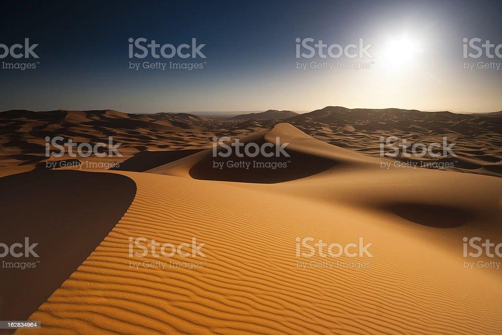 Sunrise above the desert royalty-free stock photo