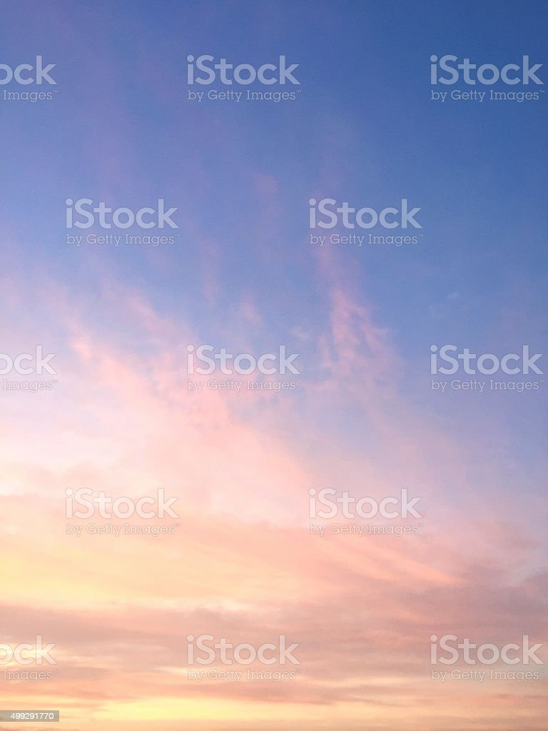 Sunrise and Blue Sky stock photo