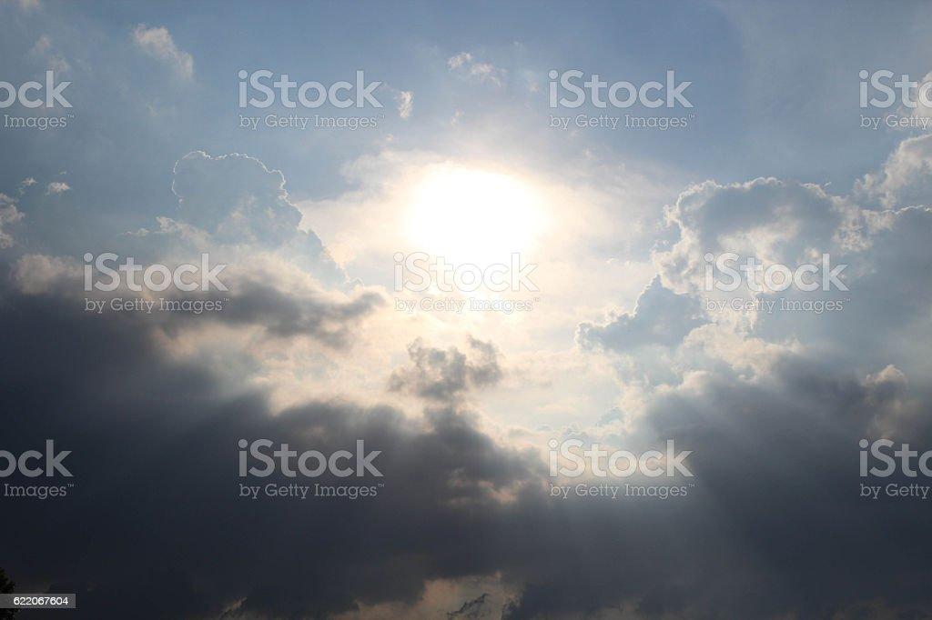 Wschód słońca i chmury zbiór zdjęć royalty-free