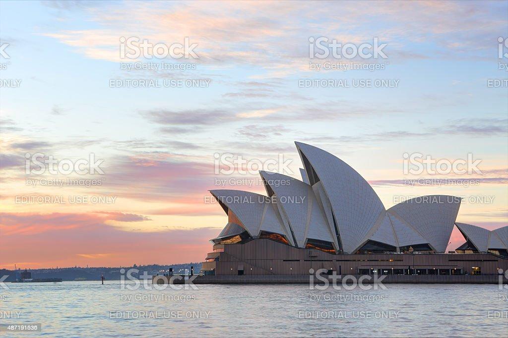Sunrise and Sydney Opera House stock photo