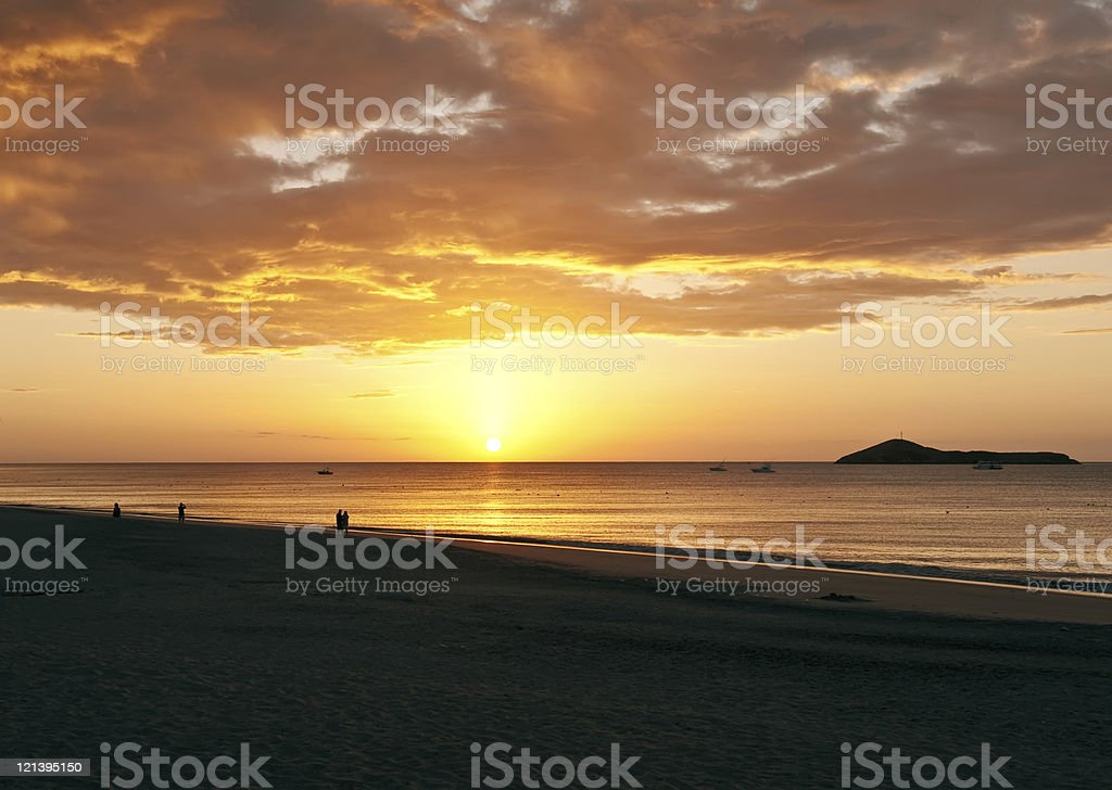Sunrise and the beach royalty-free stock photo