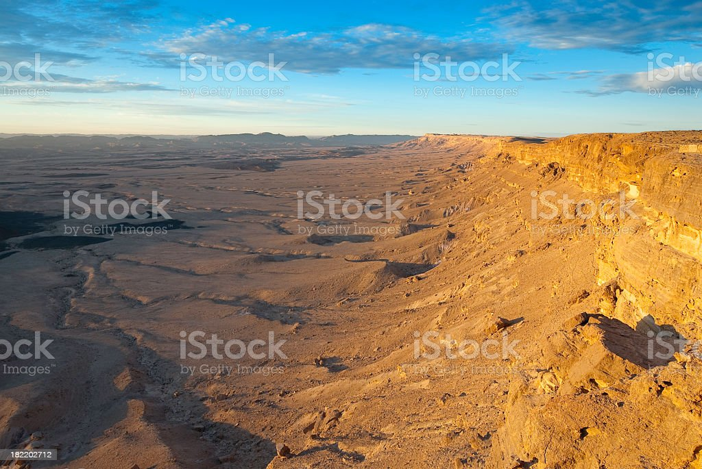 Sunrise and Yellow Cliffs stock photo
