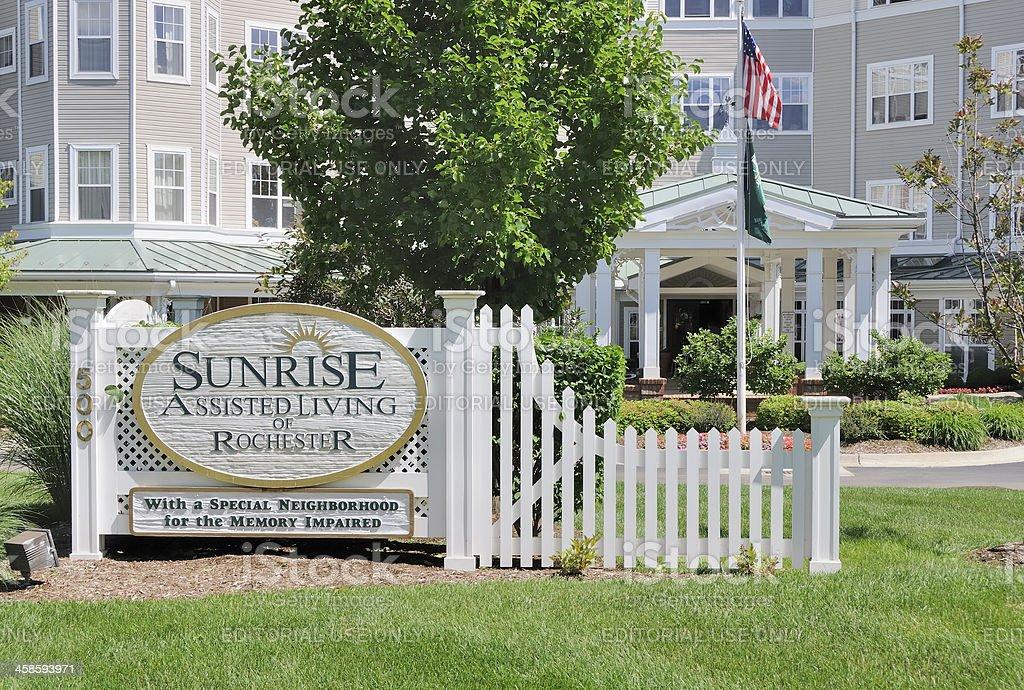 Sunrise Assisted Living stock photo