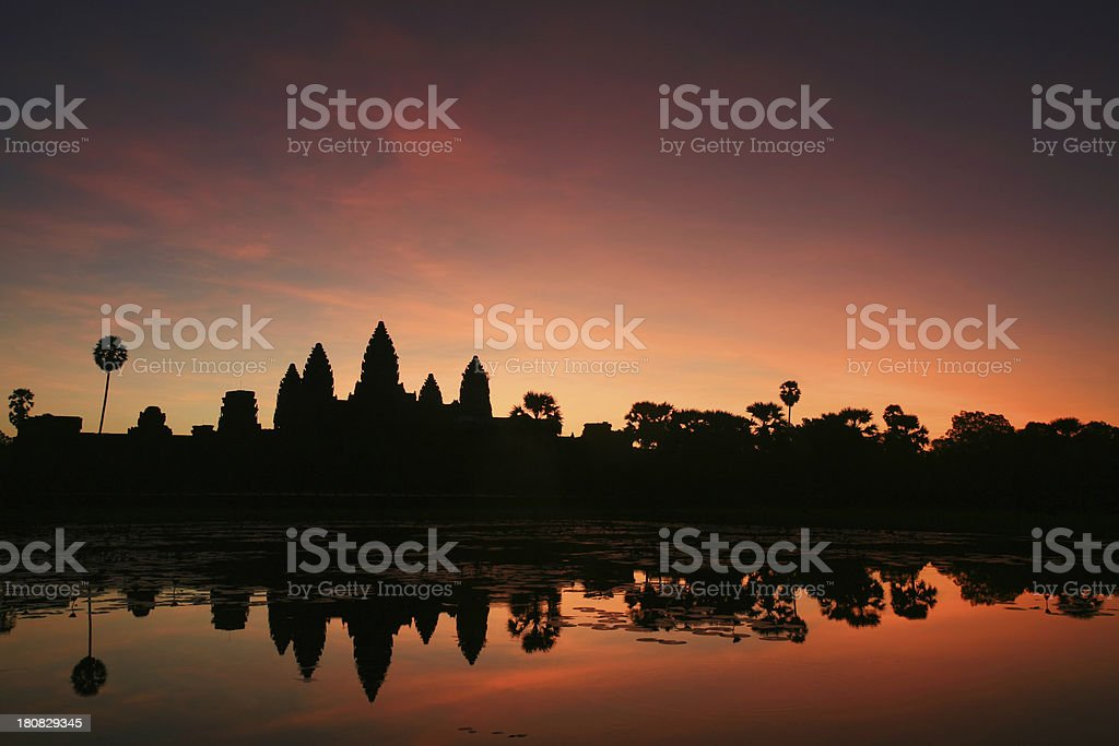 Sunrise at Angkor Wat, Cambodia royalty-free stock photo