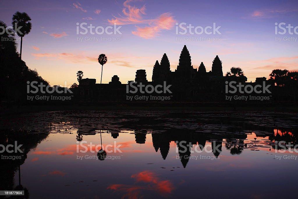Sunrise at Angkor Wat, Cambodia royalty-free stock photo