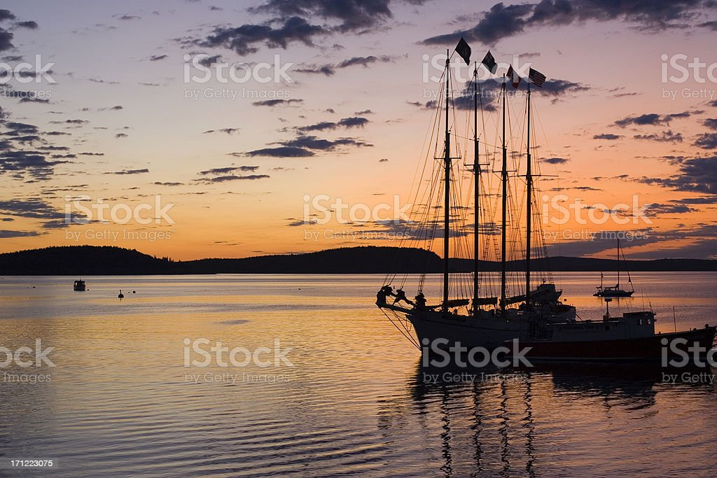 Sunrise at Bar Harbor stock photo
