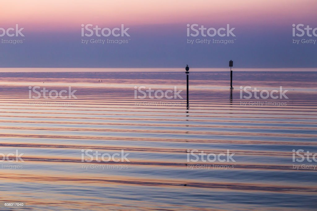 Sunrise at Bodensee lake in Germany stock photo