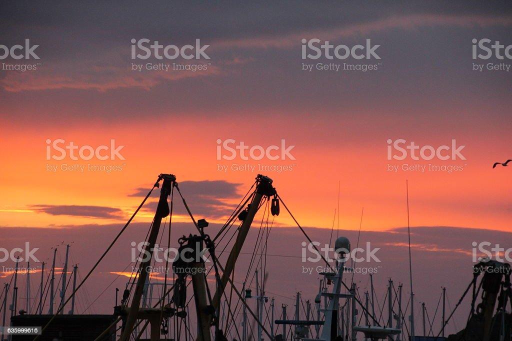 Sunrise at Brixham Harbour stock photo