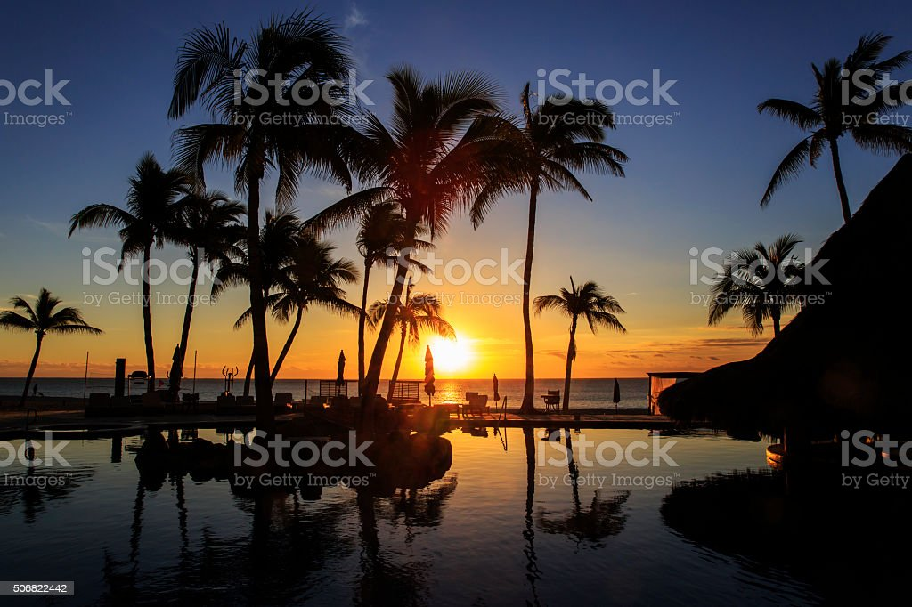 Sunrise at Cabo San Lucas stock photo