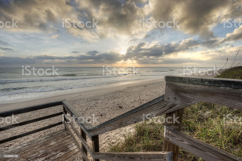 Sunrise at Canaveral National Seashore royalty-free stock photo