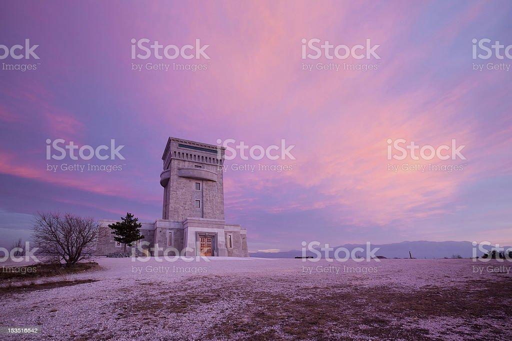 Sunrise at Cerje Miren Slovenia stock photo