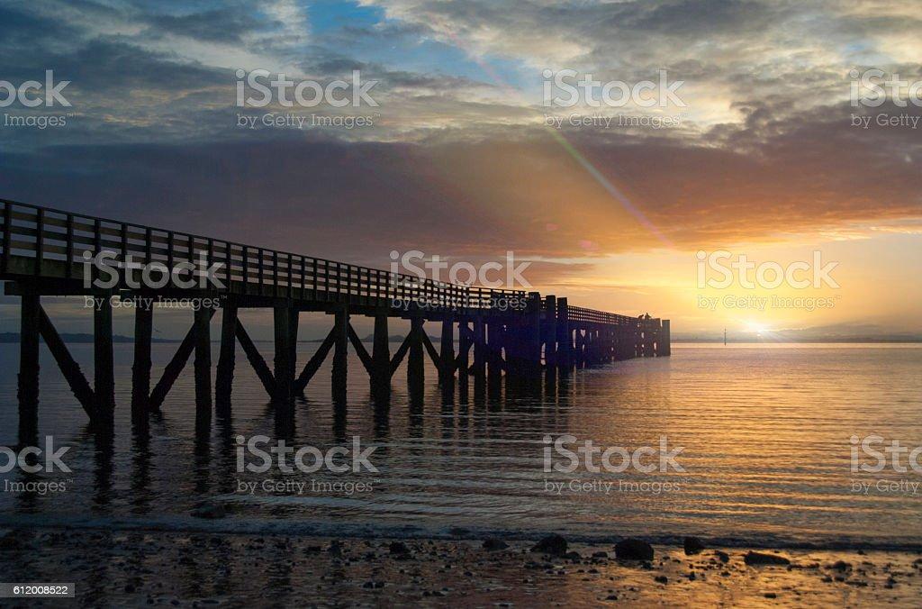 Sunrise at Cornwallis with flare stock photo