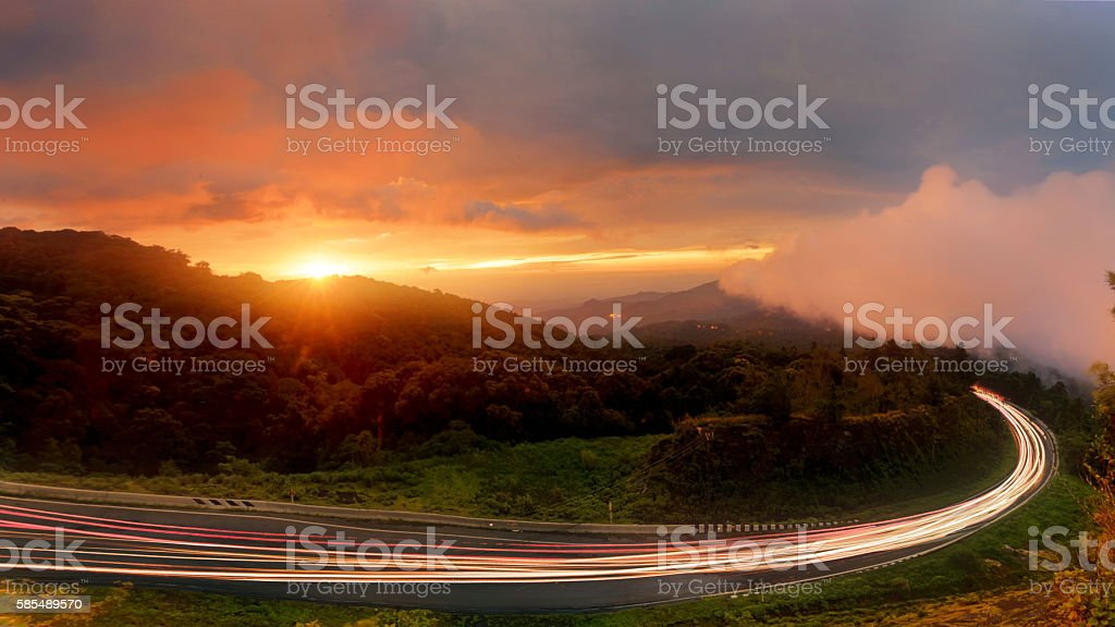 Sunrise at Doi Inthanon, 41km viewpoint, stock photo