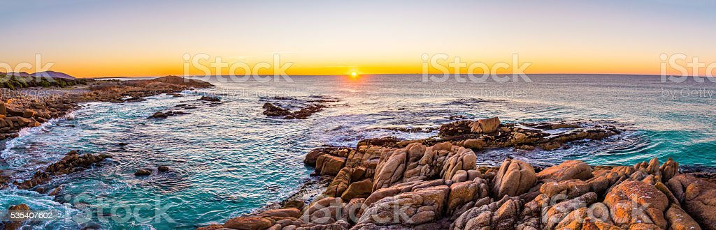 Sunrise at Friendly Beaches in Freycinet NP, Tasmania stock photo
