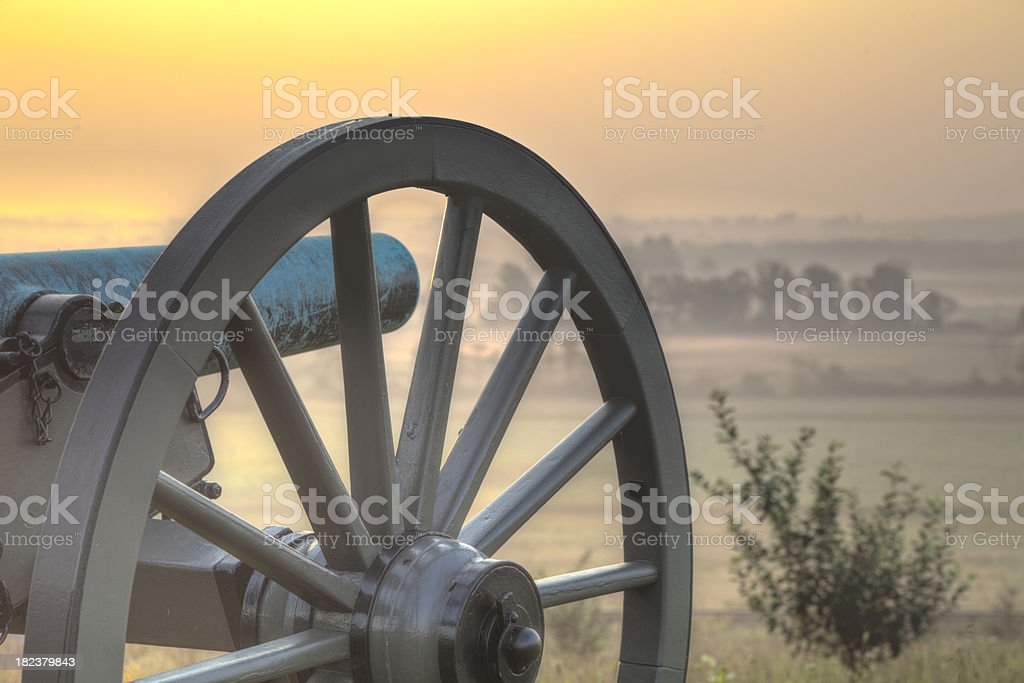 Sunrise at Gettysburg 2 royalty-free stock photo