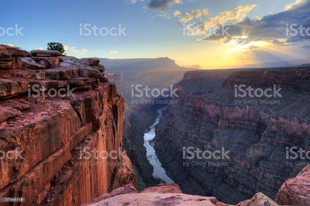 Sunrise at Grand Canyon toroweap point royalty-free stock photo