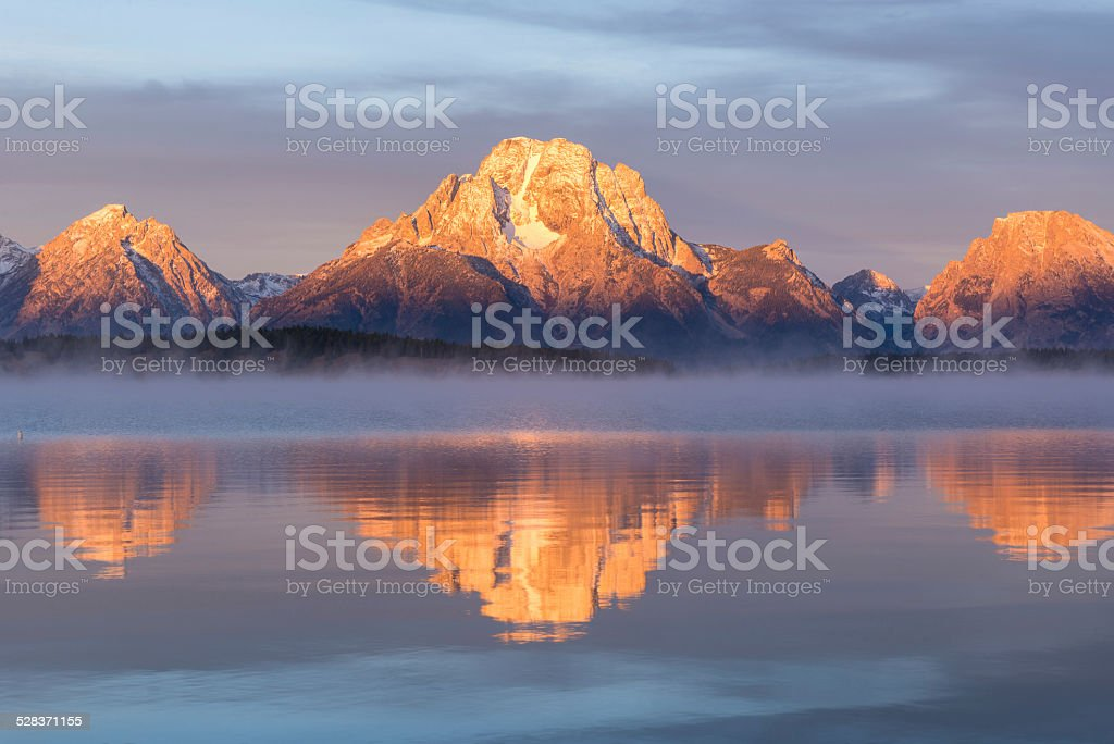 Sunrise at Grand Teton National Park, USA stock photo