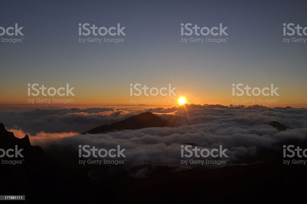 Sunrise at Haleakala Crater - Maui, Hawaii royalty-free stock photo