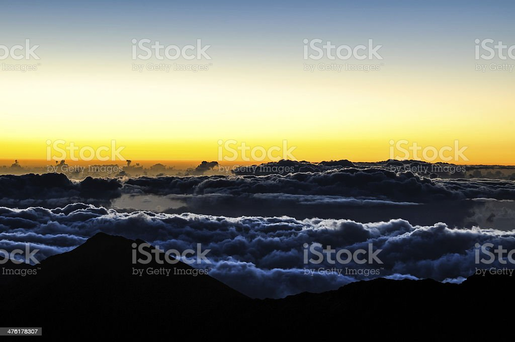 Sunrise at Haleakala Crater - Maui, Hawaii royalty-free stock photo
