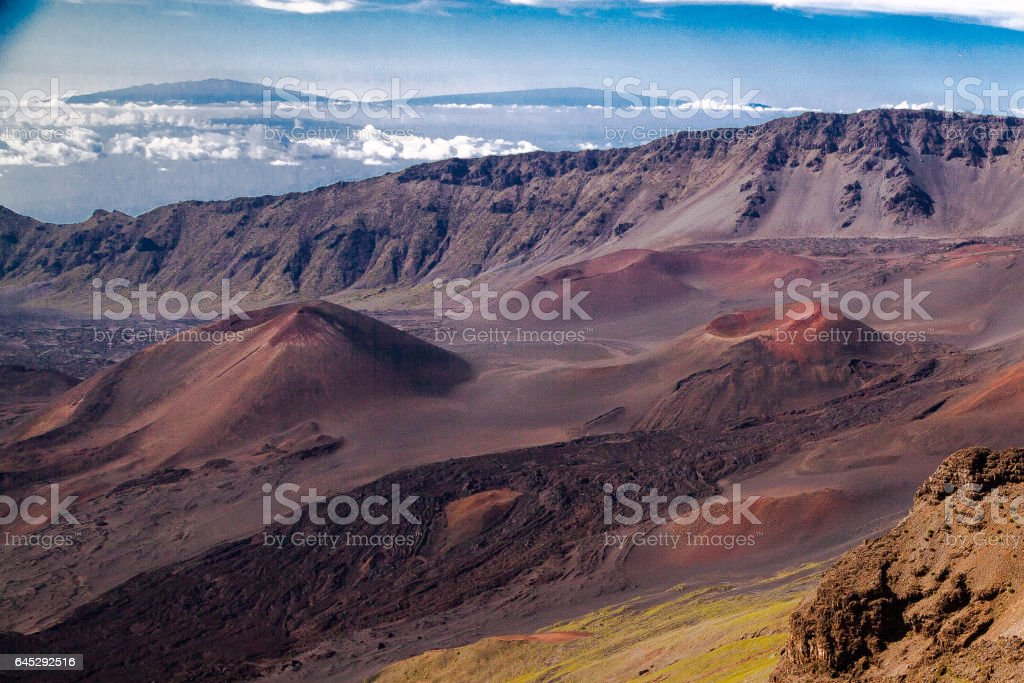 Sunrise at Haleakala National Park in Maui stock photo