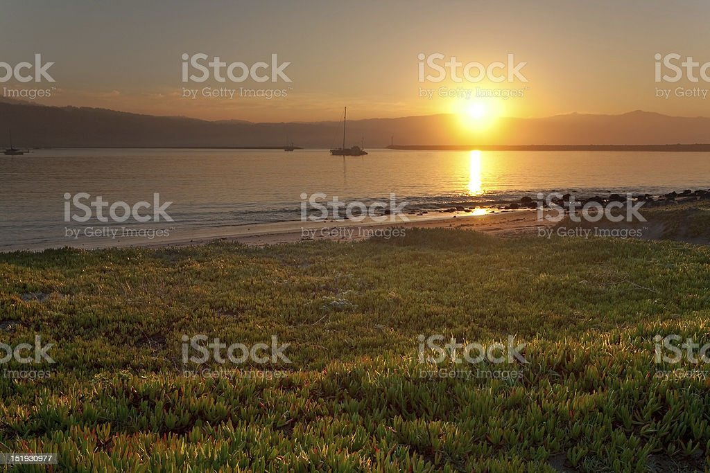 Sunrise at Half Moon Bay stock photo