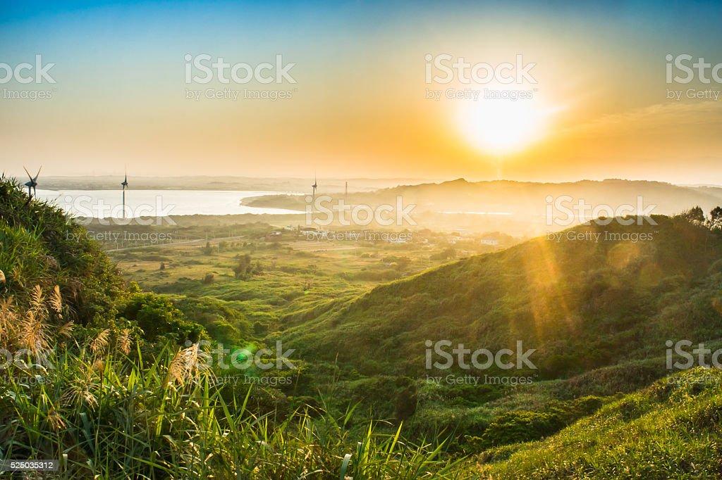 Sunrise at Houlung Cape, Miaoli County, Taiwan stock photo