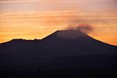 Sunrise at Kawah Ijen crater in East Java, Indonesia.