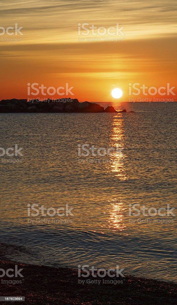 Sunrise at Kenosha stock photo