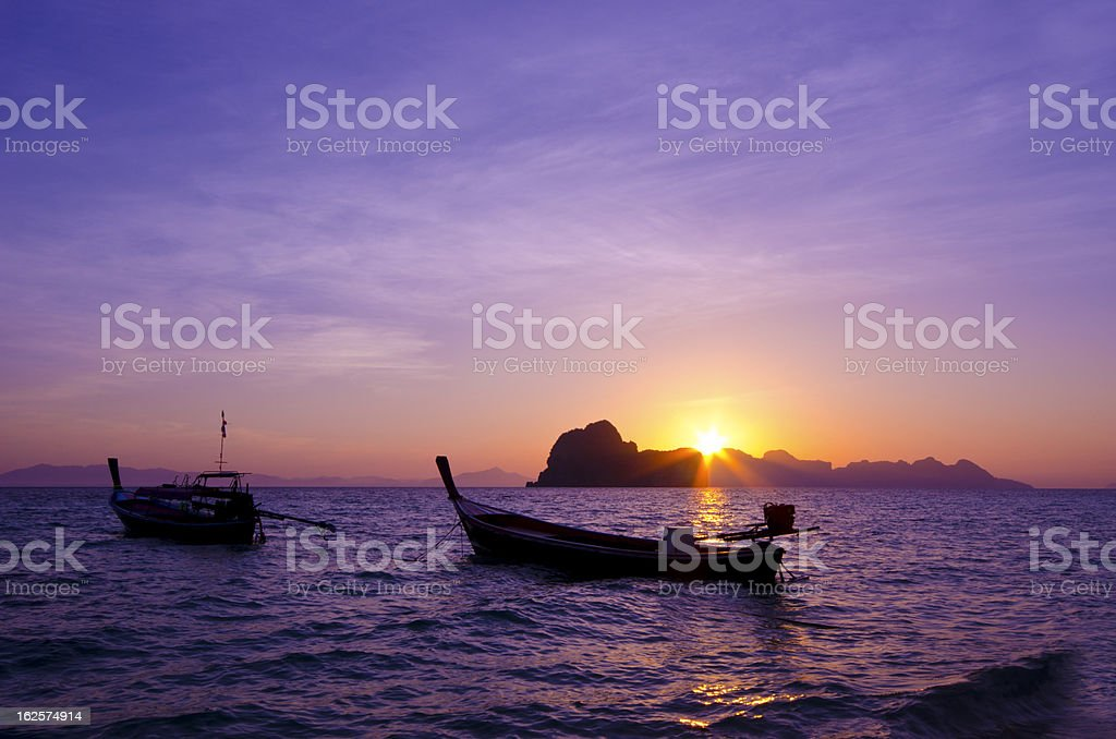 Sunrise at Koh Hai Island, Trang Province, Thailand royalty-free stock photo