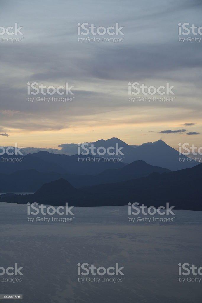 sunrise at lake Atitlan #2 royalty-free stock photo