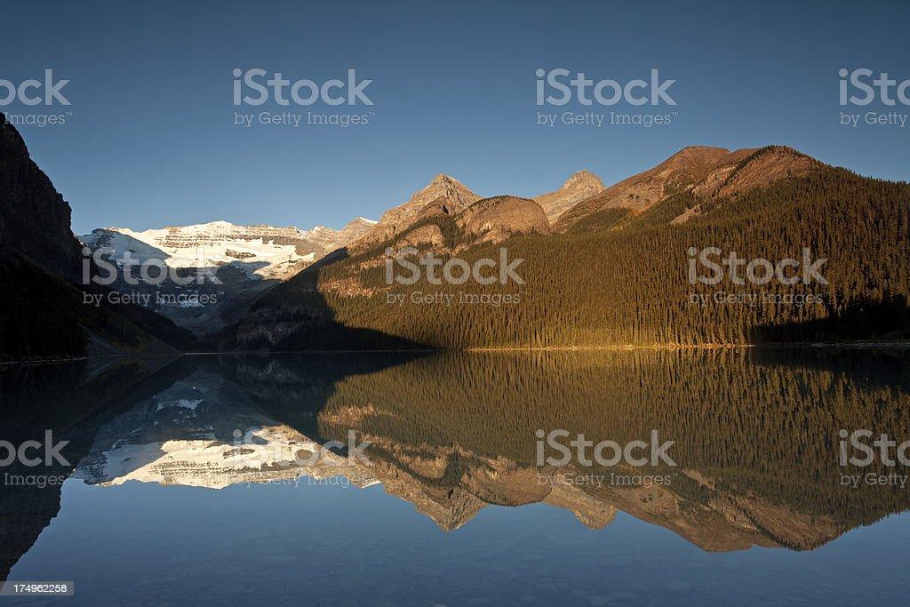 Sunrise at Lake Louise royalty-free stock photo