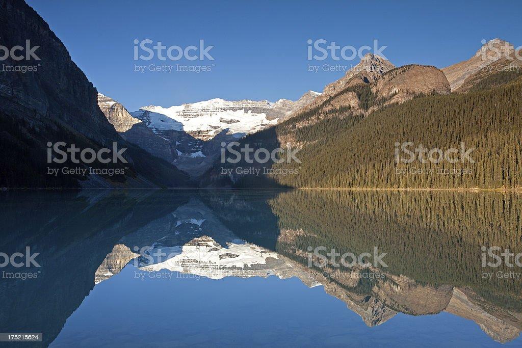 Sunrise at Lake Louise stock photo