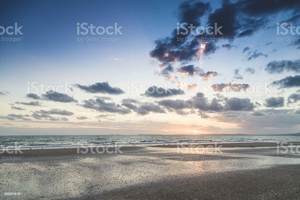 Sunrise at Long Bay stock photo